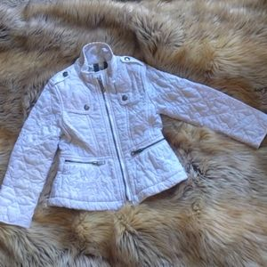 Burberry quilted white girl jacket